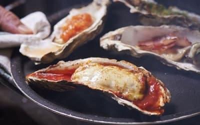 焼き牡蠣4種盛合せ